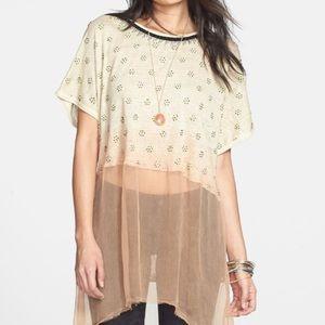 Free people diamond linen tunic || NWT